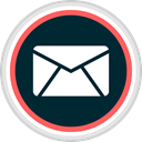 Email, online, media, Social Black icon