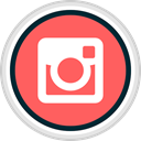Social, share, Instagram, media Tomato icon