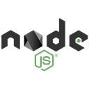 Logo, Code, Development, nodejs Black icon