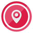 location Crimson icon