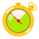 speed, Advantage, Fast, time, timer, stopwatch Gold icon