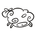 tart, Sheep, lamb, Animal, easter, wide, gooey Black icon