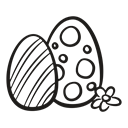 easter, fragile, spring, hen, decorated, chicken, egg Black icon