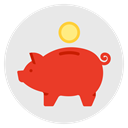 Finance, Money, piggy bank, budget, savings, investment Lavender icon