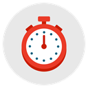 stopwatch, time, timer, speed, measure, timepiece Lavender icon
