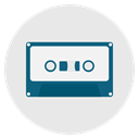 old, Audio, music, audiophile, tape, retro Lavender icon