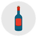 wine, drink, Alcohol, Empty, Bottle Lavender icon