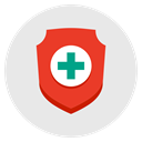 Firewall, health, shield, security, medical, insurance, Protection Lavender icon