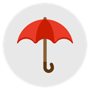 insurance, Protection, secutiry, Umbrella, Rain, waterproof Lavender icon