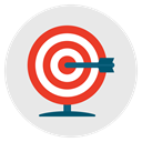 Target, Aim, Goal, Archery, success Lavender icon