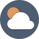 weather, sun, Cloudy, Cloud DimGray icon