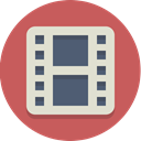 movie, film, video IndianRed icon