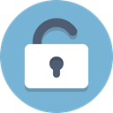 Lock, Unlocked SkyBlue icon