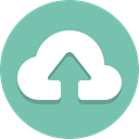 Arrow, Cloud, Up, upload MediumAquamarine icon