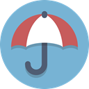 Umbrella SkyBlue icon