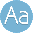 typography, letters, Alpha SkyBlue icon