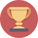 trophy, award, Prize IndianRed icon