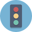 Traffic light, traffic signal, signal SkyBlue icon