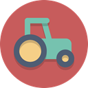 vehicle, tractor, Farming IndianRed icon