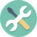 tools, Wrench, Screwdriver MediumAquamarine icon