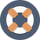 support, Life preserver DimGray icon