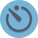 time, Clock, timer SkyBlue icon
