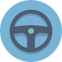 steering wheel SkyBlue icon