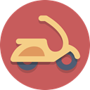 transportation, Vespa, Motorscooter, Scooter IndianRed icon