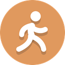 person, Running, walking SandyBrown icon