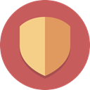 Protection, shield, security IndianRed icon