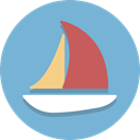 vessel, ship, Sailboat, Boat SkyBlue icon