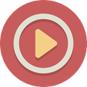 movie, play, video IndianRed icon