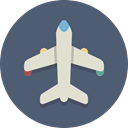 transportation, airplane, Plane DimGray icon