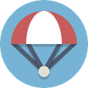 Parachute, Skydiving SkyBlue icon