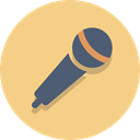 mic, Audio, Microphone Khaki icon