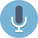 Microphone, Audio, mic SkyBlue icon