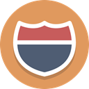 sign, Route, highway, Interstate SandyBrown icon