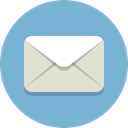 envelope, Message, mail SkyBlue icon