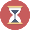 Hourglass, timer, time IndianRed icon