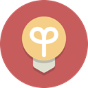 Light bulb, bulb, light IndianRed icon
