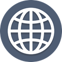 globe, global, network, planet DimGray icon