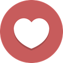 Favorite, Heart, Like IndianRed icon