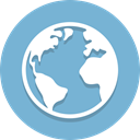 global, earth, globe, world, planet SkyBlue icon