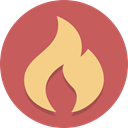 Flame, Burn, fire IndianRed icon