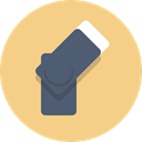 Flash, thumb drive Khaki icon