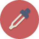 pipette, Eye dropper, Dropper IndianRed icon