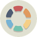 swatch, palette, Color wheel Gainsboro icon