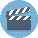 Clapboard SkyBlue icon