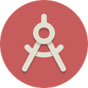 compass, Circle compass IndianRed icon