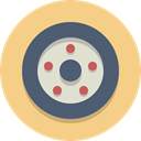 wheel, Car wheel, Tire Khaki icon